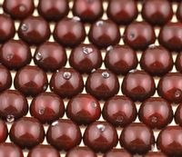 8mm SWAROVSKI® ELEMENTS Maroon Crystal Pearl Beads - 20 pearls for jewellery making, beadwork and craft